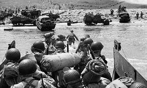 Americans Landing in Normandy