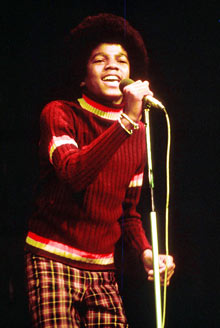 A young Michael Jackson performing in the 70s