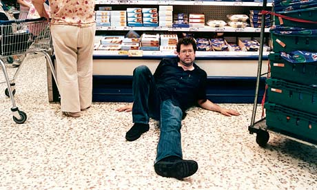 William Leith on supermarket floor