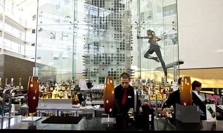 The bar at the New York Grill & Bar, Radisson SAS hotel, Stansted ...