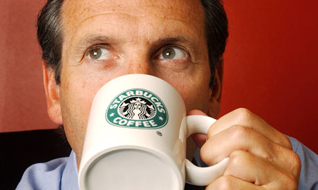 Howard Schultz, C.E.O. of Starbucks in London
