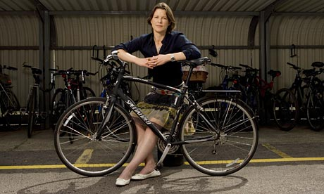 Stephanie Flanders and bike
