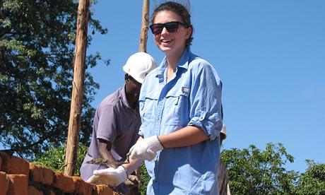 A volunteer working on a Quest Overseas scheme