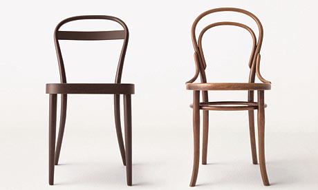 muji and thonet chairs