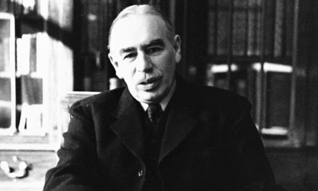 Keynes in his Bloomsbury study, 1940.