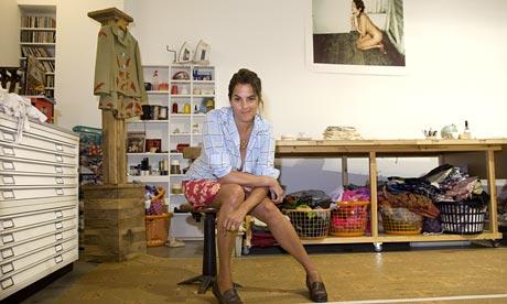 Artist Tracey Emin in her east London studio