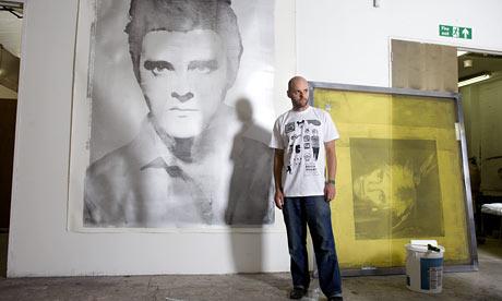 Gavin Turk in his east London studio