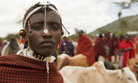 Masai at Saturday cattle market