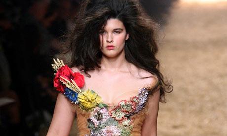 Crystal Renn models a Jean-Paul Gaultier creation in 2005