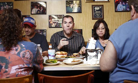 Frank Bruni at Katz's Deli, New York