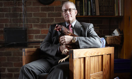 Joel Salatin photographed at home on his Virginia farm, Polyface