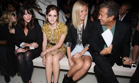 emma watson new hairstyle. Emma Watson sits between Liv