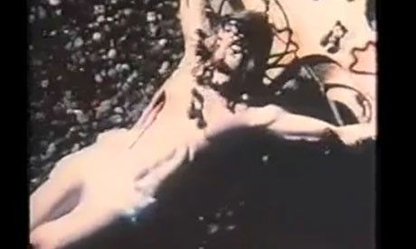 A still from the four-minute video, created by the late artist David Wojnarowicz, that the National Portrait Gallery in Washington has removed from the show Hide/Seek: Difference and Desire in American Portraiture. Photograph: Guardian