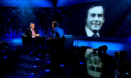 Piers Morgan interview with Gordon Brown his wife Sarah was in the audience.