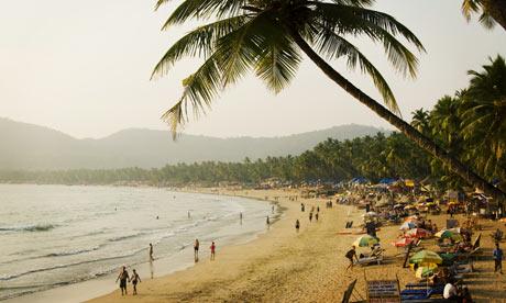 Palolem beach in Goa in South India