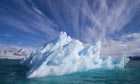 Small Iceberg Drifting in Fjord