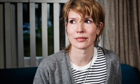 Julia Davis photographed at home