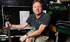 Peter Hook in his Alderley Edge studio
