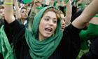 Supporter of Mir Hossein Mousavi