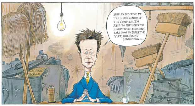 Chris Riddell on Nick Clegg