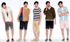 Men's shorts line-up