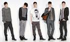 Men's grey line-up