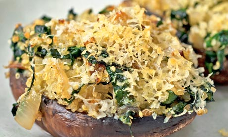 Nigel Slater's mushrooms with quinoa and chard, and baked greengages ...