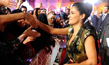salma hayek movies 2010. Salma Hayek in Qatar for 2010