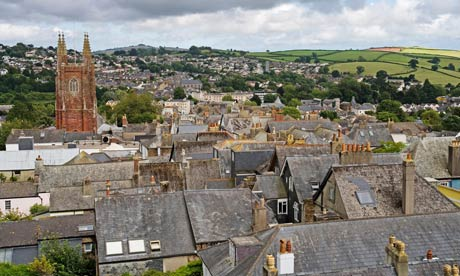 Roofs of Totnes, Devon, Great Britain, Europe