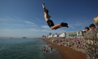 Boy jumps into sea at Brighton
