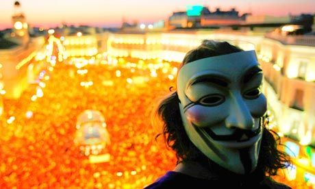 V for Vendetta mask, Occupy, Madrid