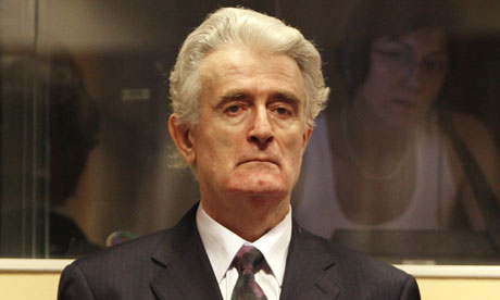 radovan karadzic in court at the hague