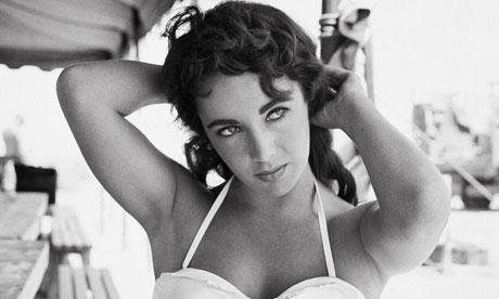 Elizabeth Taylor On The Set Of The Movie