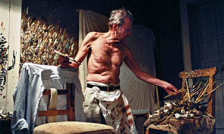 lucian freud in studio