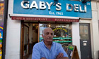 Gaby Elyahou outside Gaby's Deli in the West End.