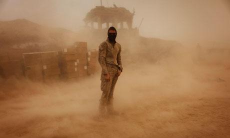 Afghanistan Helmand sandstorm