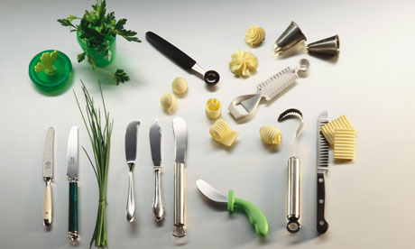 Tools for making butter garnishes