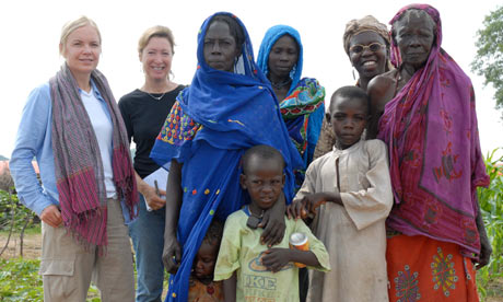 mariella and darfuri refugees in chad