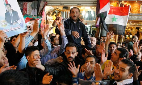 Supporters Syria Assad