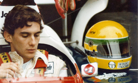 Ayrton Senna pensive before a race