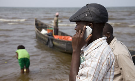 Africa mobile phone boat owning businessman
