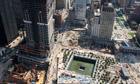 9/11 ground zero memorial site and skyscrapers under construction