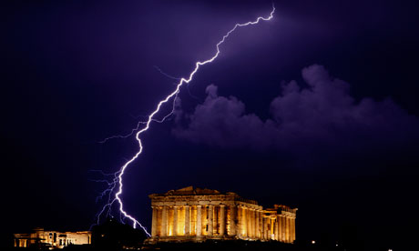 Lightning over the Parthenon, Athens