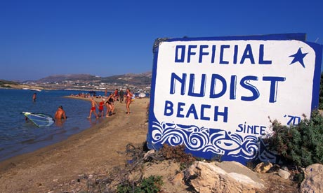 Sunset strip: The nudist beach attached to Antiparos Camping on the