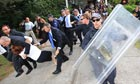 Australian PM Dragged From Protest By Security Staff