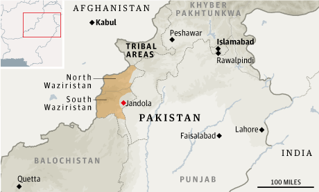 Map - Pakistan, Waziristan