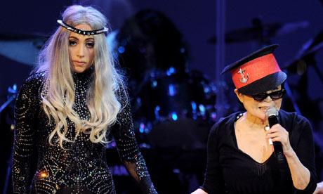 Yoko Ono Performs