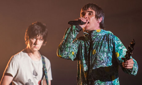 Ian Brown (R) and John Squire of The Stone Roses