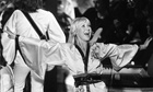 Agnetha Faeltskog performs on stage together with pop