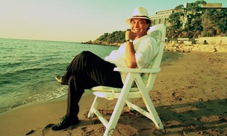 Asil Nadir on beach in Cyprus in 1993